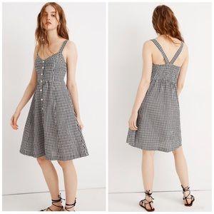 Madewell Smocked Back Gingham Dress
